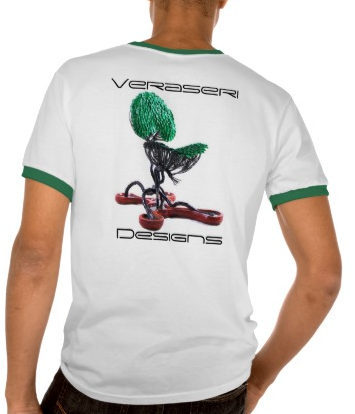 Veraseri Designs Mangrove Chair V.2 Womenu0027s T Shirt White/Kelly Green